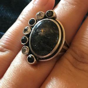 Sterling Rutilated Quartz Ring
